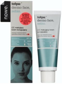 Tołpa Dermo Face Sebio creme CC matificante para peles com imperfeições SPF 30