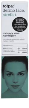 Tołpa Dermo Face T-Zone mattierende Creme mit feuchtigkeitsspendender Wirkung