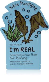 TONYMOLY I'm SEAWEED Zellschichtmaske mit reinigender und erfrischender Wirkung