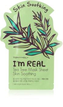 TONYMOLY I'm REAL Tea Tree nyugtató hatású gézmaszk