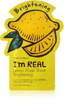 TONYMOLY I'm REAL Lemon Zellschichtmaske mit aufhellender Wirkung