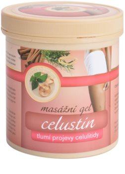Topvet Celustin masážny gél tlmiaci prejavy celulitídy