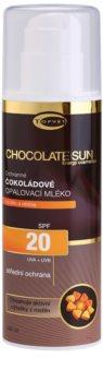 Topvet Chocolate Sun loțiune pentru plaja  SPF 20
