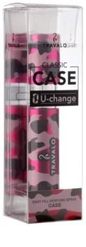 Travalo Classic Case plastikowa obudowa na napełnialny flakon unisex    Camouflage Pink