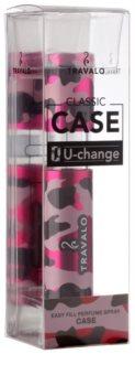 Travalo Classic plastový obal na plnitelný rozprašovač parfémů unisex    Camouflage Pink