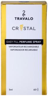 Travalo Crystal Gold plniteľný rozprašovač parfémov unisex 5 ml