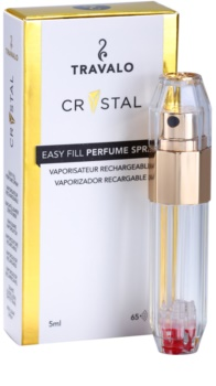 Travalo Crystal Gold plnitelný rozprašovač parfémů unisex 5 ml