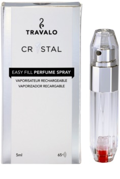 Travalo Crystal Silver vaporizador de perfume recarregável unissexo 5 ml