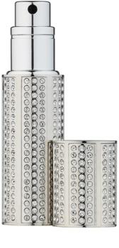 Travalo Divine napełnialny flakon z atomizerem unisex 5 ml z kryształkami Swarovskiego Silver