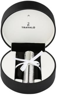 Travalo Divine nachfüllbarer Flakon mit Zerstäuber unisex 5 ml mit Swarovskikristallen Silver