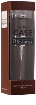 Travalo Milano Case U-change Metalen etui voor hervulbare verstuiver Unisex    Brown