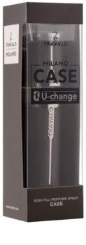 Travalo Milano Case U-change kovový obal na plnitelný rozprašovač parfémů unisex    Grey