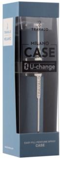Travalo Milano Case U-change Metalen etui voor hervulbare verstuiver Unisex    Light Blue