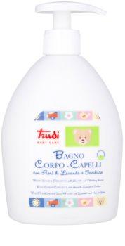 Trudi Baby Care dětské koupelové mléko a šampon s levandulí a květem bezinky