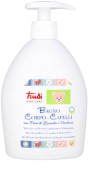 Trudi Baby Care detské mlieko do kúpeľa a šampón s levanduľou a bazovým kvetom