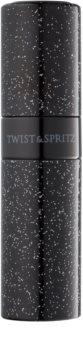 Twist & Spritz Fragrance Atomiser nachfüllbarer Flakon mit Zerstäuber Unisex 8 ml  Glitter Black