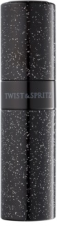 Twist & Spritz Fragrance Atomiser Refillable Atomiser unisex 8 ml  Glitter Black