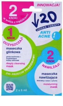 Under Twenty ANTI! ACNE čisticí a hydratační maska pro problematickou pleť, akné