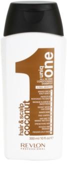 Uniq One All In One Coconut Hair Treatment подсилващ шампоан за всички видове коса