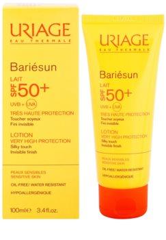 Uriage Bariésun hedvábně jemné ochranné mléko na obličej a tělo SPF50+