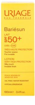 Uriage Bariésun шовковисте делікатне захисне молочко для обличчя та тіла SPF 50+