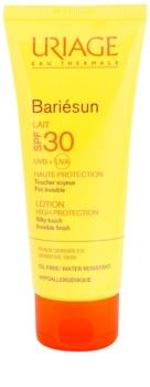 Uriage Bariésun selymes és gyengéd védőtej arcra és testre SPF 30