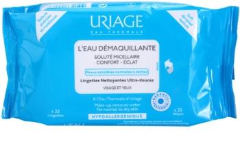 Uriage Hygiène toalhitas desmaquilhantes para pele normal e seca
