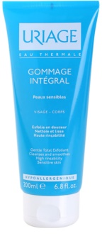 Uriage Hygiène gel de curatare exfoliant pentru piele sensibila