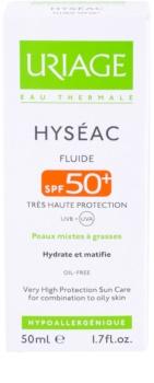 Uriage Hyséac mattierendes Fluid mit feuchtigkeitsspendender Wirkung SPF 50+