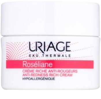 Uriage Roséliane creme de dia nutritivo para a pele sensível com tendência a aparecer com vermelhidão