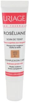 Uriage Roséliane тональний флюїд для чутливої шкіри схильної до почервонінь