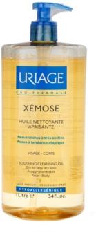 Uriage Xémose óleo de limpeza apaziguador para rosto e corpo
