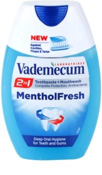 Vademecum 2 in1 Menthol Fresh pasta de dientes + enjuague bucal en un solo producto