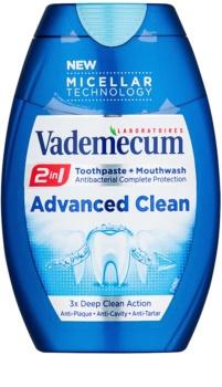 Vademecum Advanced Clean Pro Micellar Technology pasta de dentes e elixir 2 em 1 para proteção completa de dentes