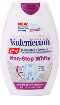 Vademecum 2 in1 Non-Stop White pasta do zębów + płyn do płukania jamy ustnej w jednym