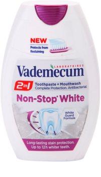 Vademecum 2 in1 Non-Stop White pasta za zube + vodica za ispiranje u jednom