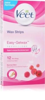 Veet Wax Strips depilacijski trakovi s karitejevim maslom in vonjem gozdnih jagod