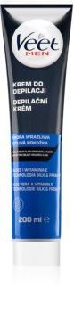 Veet Men Silk & Fresh Moisturizing Depilatory Cream for Sensitive Skin