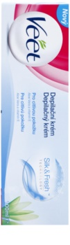 Veet Depilatory Cream Depilationscreme für die Beine für empfindliche Oberhaut