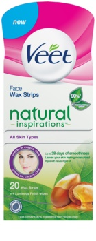 Veet Wax Strips Natural Inspirations™ Facial Waxing Strips With Argan Oil