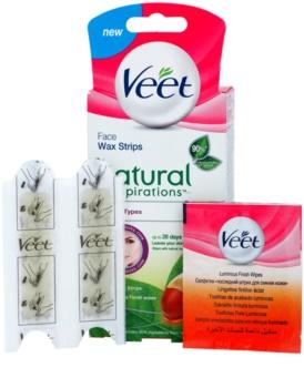 Veet Wax Strips Natural Inspirations™ воскові смужки для депіляції обличчя з аргановою олійкою
