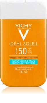 Vichy Idéal Soleil creme bronzeador ultra ligeiro para o rosto e corpo SPF 50