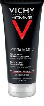 Vichy Homme Hydra-Mag C gel de ducha para cuerpo y cabello