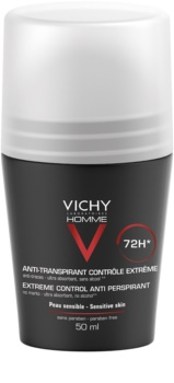 Vichy Homme Deodorant Antiperspirant Roll-On to Treat Excessive Sweating