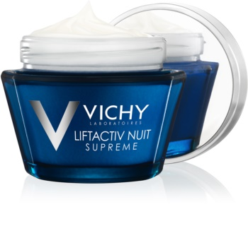 Vichy Liftactiv Supreme crema de noche reafirmante y antiarrugas  con efecto lifting