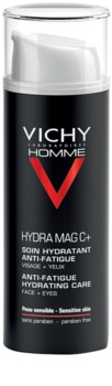 Vichy Homme Hydra-Mag C hidratáló arc és szemkörnyék ápolás a fáradtság jelei ellen