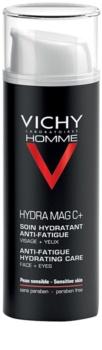 Vichy Homme Hydra-Mag C ενυδατική φροντίδα κατά τα σημάδια της κούρασης για πρόσωπο και γύρω περιοχή των ματιών