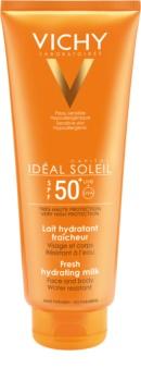 Vichy Idéal Soleil Capital leite protetor para rosto e corpo SPF 50+