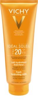 Vichy Idéal Soleil védő és hidratáló tej arcra és testre SPF 20