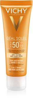 Vichy Idéal Soleil tonirana nega proti pigmentnim madežem 3 v 1 SPF 50+